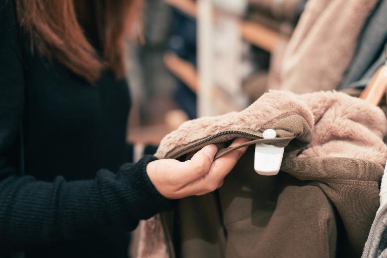 A lady shopping fleece