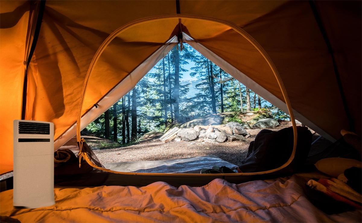 Floor ac in a tent tent