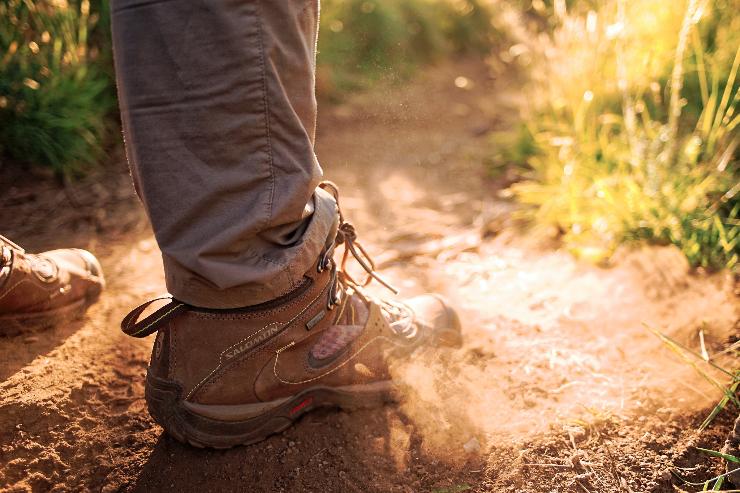 A men hiking sheo