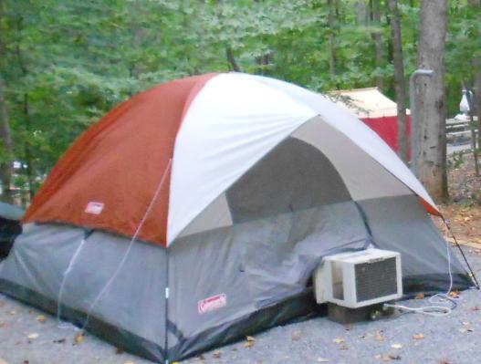 Window ac tent